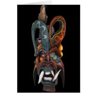 Rainforest Mask of Costa Rica Card