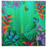 rainforest napkin