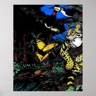 Rainforest Ocelot Posters