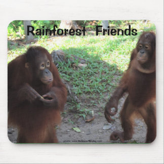 Rainforest Orangutan Friends Mouse Pad