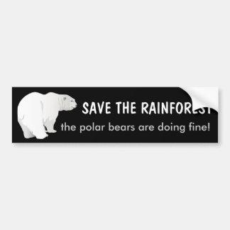Rainforest Polar Bear Bumper Sticker