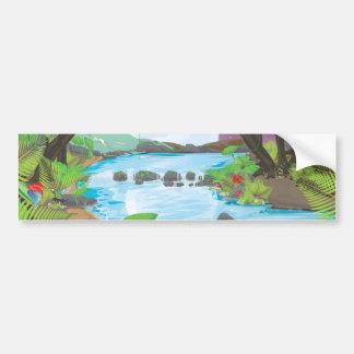 Rainforest River Bumper Sticker
