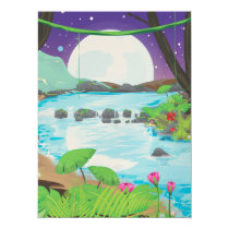 Rainforest River Card