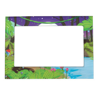 Rainforest River Photo Frame Magnets