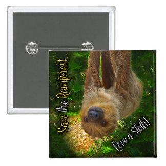 Rainforest Sloth Button