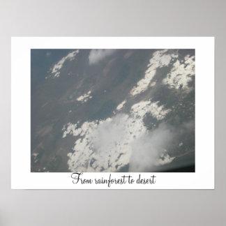 Rainforest to Desert Poster