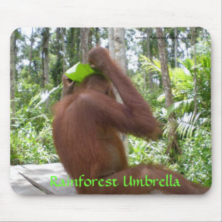 Rainforest Umbrella Jungle Animals Mouse Pad