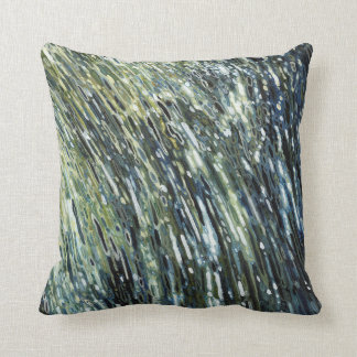 Rainforest Waterfall Tropical Decor Pillow by Juul