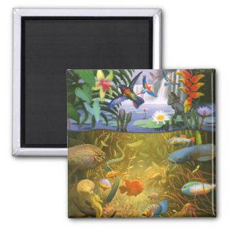 Rainforest  Wildlife Refrigerator Magnet
