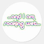Rainglow mojado de impregnación 2 pegatina redonda