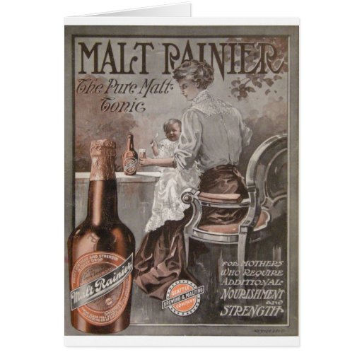Rainier Beer ad (1909) Mother Advertisment Card