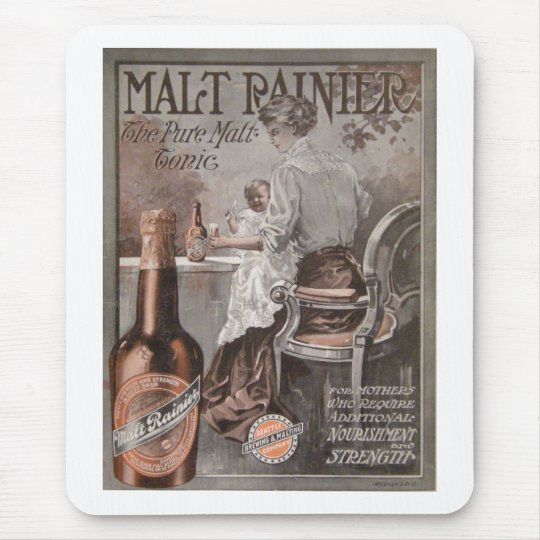Rainier Beer ad (1909) Mother Advertisment Mouse Pad