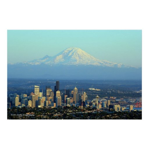 Rainier Beyond Seattle Poster
