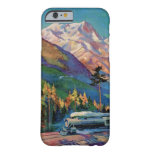 Rainier National Park Vintage Poster Restored Barely There iPhone 6 Case