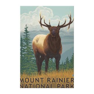 Rainier National Park, WashingtonElk Scene Canvas Print