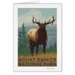 Rainier National Park, WashingtonElk Scene Greeting Cards