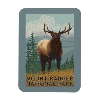 Rainier National Park, WashingtonElk Scene Magnet