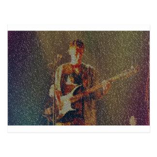 Raining at the gig postcard