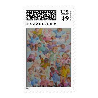 Raining Babies Stamp