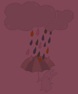 Raining bunny tees