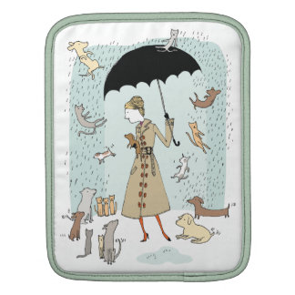 Raining Cats and Dogs by Alli Arnold iPad Sleeve