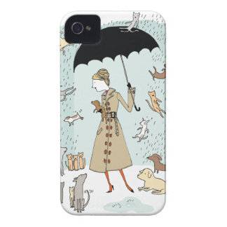 Raining Cats and Dogs by Alli Arnold iPhone Cover iPhone 4 Case-Mate Cases