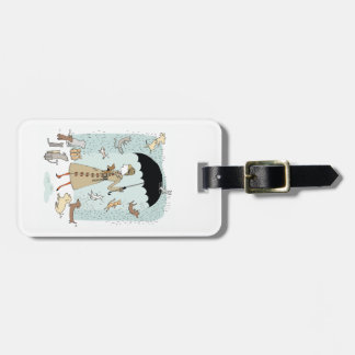Raining Cats and Dogs by Alli Arnold Luggage Tag