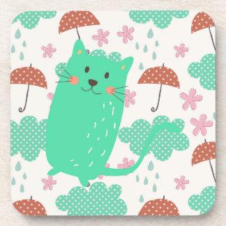 Raining Cats Beverage Coaster