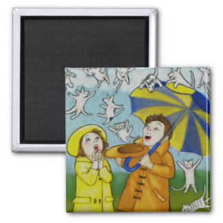 Raining Cats & Dogs Magnet