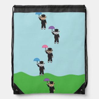 Raining Cats Drawstring Bag