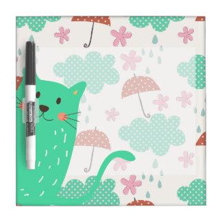 Raining Cats Dry-Erase Board