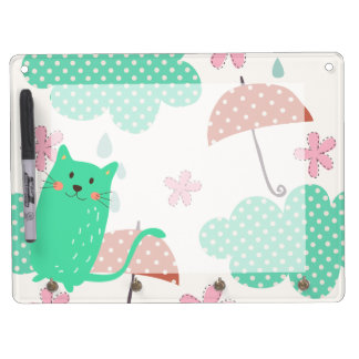 Raining Cats Dry Erase Board With Keychain Holder