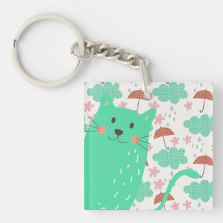 Raining Cats Keychain