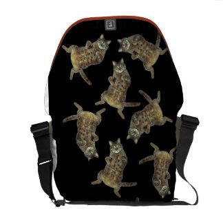 Raining cats messenger bag