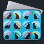 "Raining Cats &#39;n Cats Laptop Sleeve 15&quot;<br><div class=""desc"">15&quot; Neoprene Laptop Sleeve with cat design</div>"