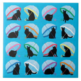Raining Cats 'n Cats Large Ceramic Tile