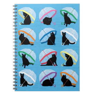 Raining Cats 'n Cats Notebook (80 Pages B&W)