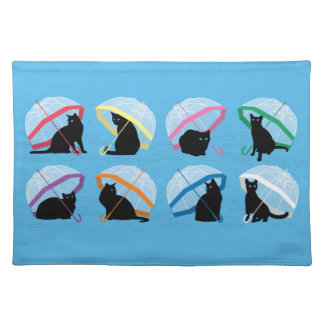 """Raining Cats 'n Cats Placemats 20"""" x 14"""""""