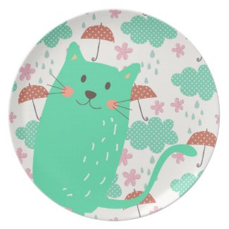 Raining Cats Party Plate