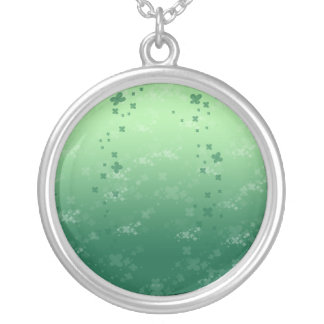 Raining Clover Silver Plated Necklace