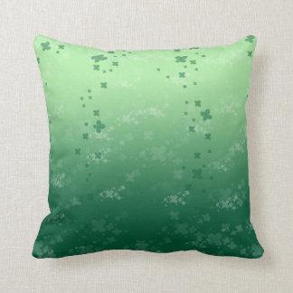 Raining Clover Throw Pillow