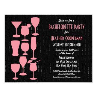 Raining Cocktails Bachelorette Party Invitation