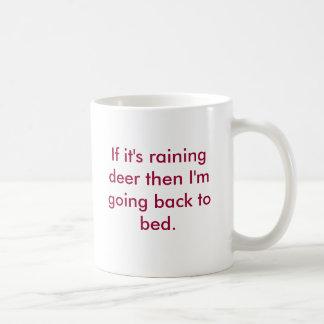Raining Deer Classic White Coffee Mug