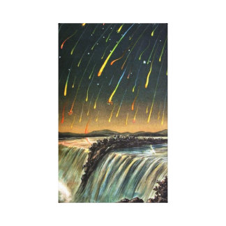 Raining Fire over Water Falls Canvas Print