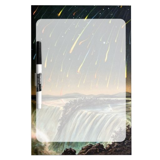 Raining Fire over Water Falls Dry Erase Whiteboards