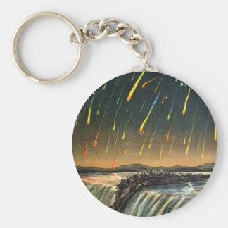 Raining Fire over Water Falls Keychain