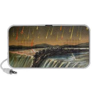 Raining Fire over Water Falls Laptop Speaker