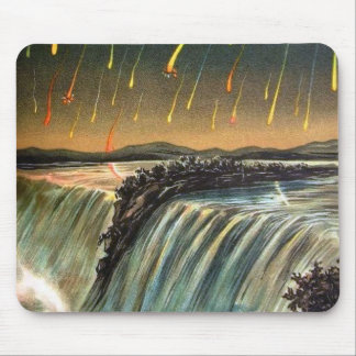 Raining Fire over Water Falls Mouse Pad