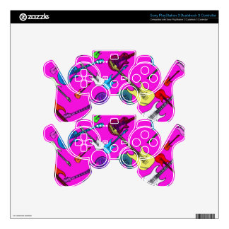 Raining Guitars PS3 Controller Skin