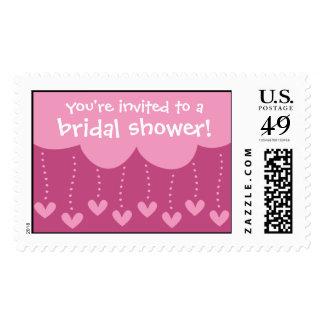 Raining Hearts Bridal Shower Stamp